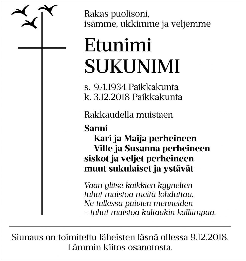 Kuolinilmoitukset Oulu