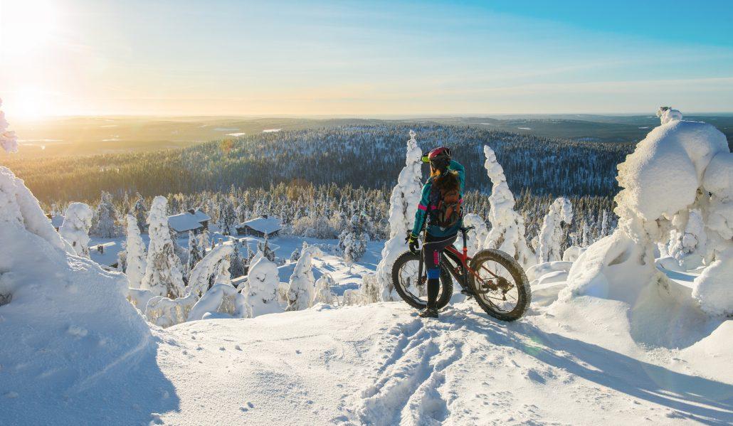 Maastopyöräily onnistuu hyvin myös talvella.
