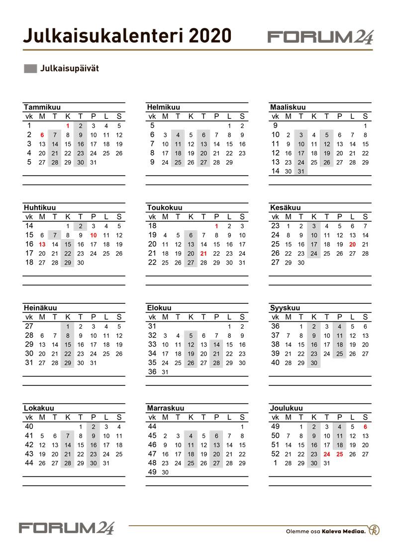 Julkaisukalenteri